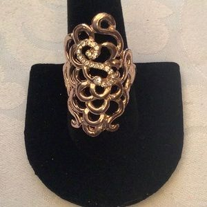 Jewelry - 💜3/30 Rose Gold Fashion Ring size 9